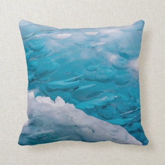 Ice Blue Throw Pillows : Close-up of blue ice pillows