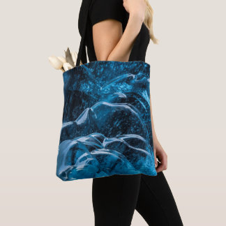 Close Up Of Blue Ice Walls Tote Bag
