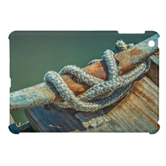 Close-up of boat cleat and rope cover for the iPad mini