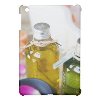 Close up of bottles with massage oils iPad mini case