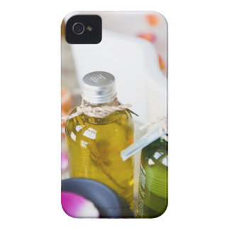 Close up of bottles with massage oils iPhone 4 cover