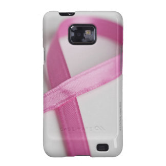 Close up of Breast Cancer Awareness Ribbon Galaxy SII Cases