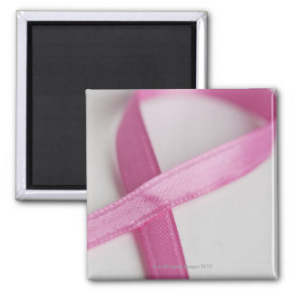 Close up of Breast Cancer Awareness Ribbon Magnet