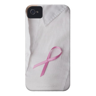 Close up of Breast Cancer Awareness Ribbon on Case-Mate iPhone 4 Case