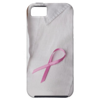 Close up of Breast Cancer Awareness Ribbon on iPhone SE/5/5s Case