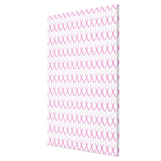 Close up of Breast Cancer Awareness Ribbons Canvas Print