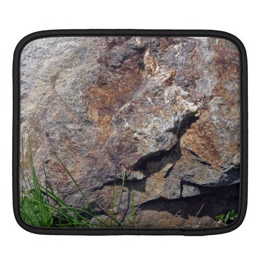 Close-up of Brown Rock on a grassy Landscape Sleeves For iPads