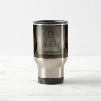 Close up of Buddha on a Relief Sculpture Travel Mug