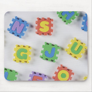 Close-up of building blocks mouse pad