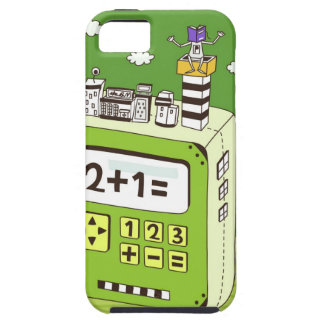 Close-up of buildings on a calculator iPhone 5 cover