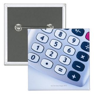 close-up of calculator buttons