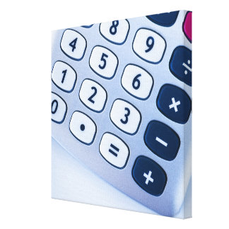 close-up of calculator buttons canvas print
