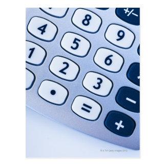 close-up of calculator buttons postcard