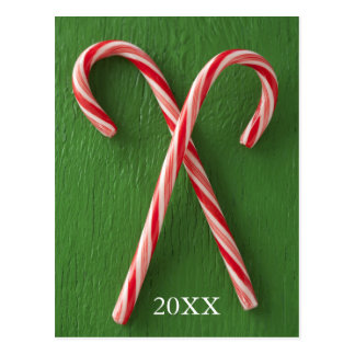 Close up of candy canes postcard