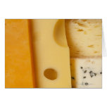 Close-up of cheese slices greeting cards