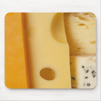 Close-up of cheese slices mouse pad