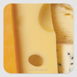 Close-up of cheese slices sticker
