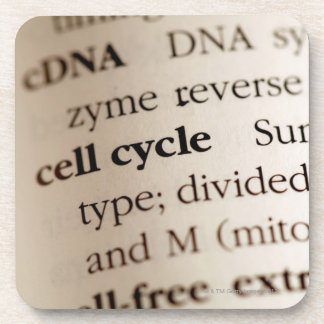Close-up of chemistry terms in dictionary coaster