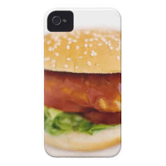 Close-up of chicken burger iPhone 4 covers