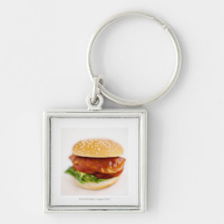 Close-up of chicken burger key chains