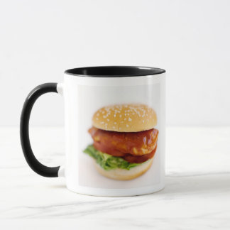 Close-up of chicken burger mug