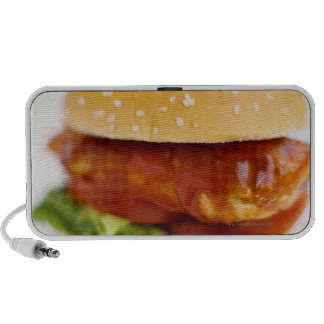Close-up of chicken burger portable speakers