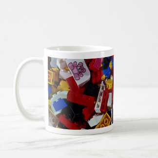 Close-up of children's building blocks coffee mug