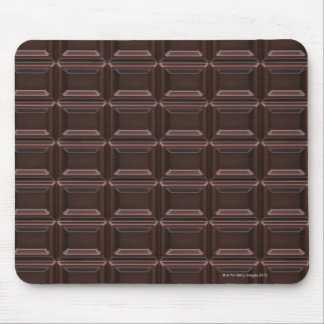 Close-up of chocolate bar mouse pad
