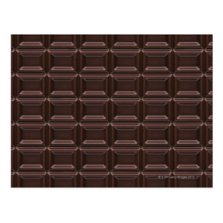 Close-up of chocolate bar postcard