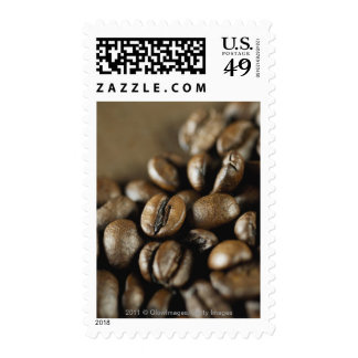 Close-up of coffee beans stamps