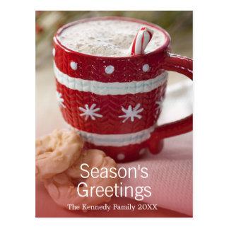 Close up of cookies and mug of hot chocolate postcard