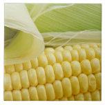 Close up of corn large square tile