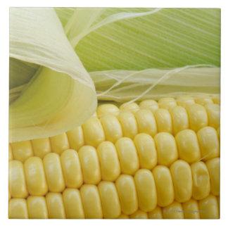 Close up of corn tile