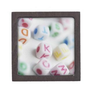 Close-up of cubes gift box