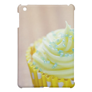 Close up of cup cake showing decoration cover for the iPad mini