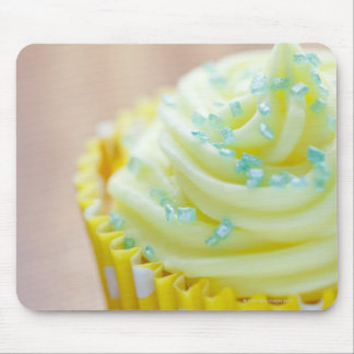 Close up of cup cake showing decoration mouse pad