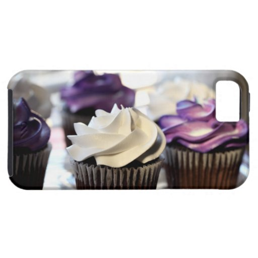 Close-up of cupcakes with selective focus on iPhone 5 case