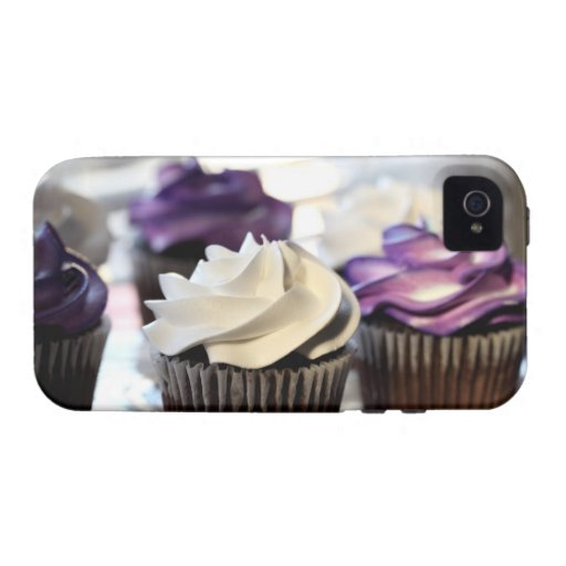 Close-up of cupcakes with selective focus on Case-Mate iPhone 4 covers