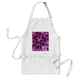 close up of dark purple lilac adult apron