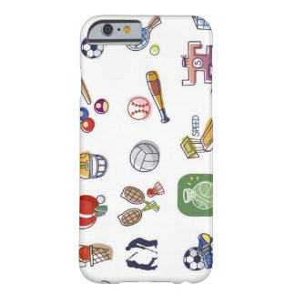 Close-up of different type of sports equipments barely there iPhone 6 case