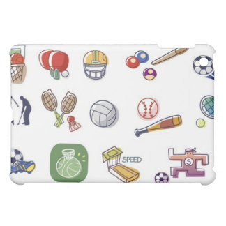 Close-up of different type of sports equipments iPad mini cases