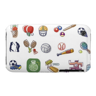 Close-up of different type of sports equipments iPhone 3 Case-Mate case