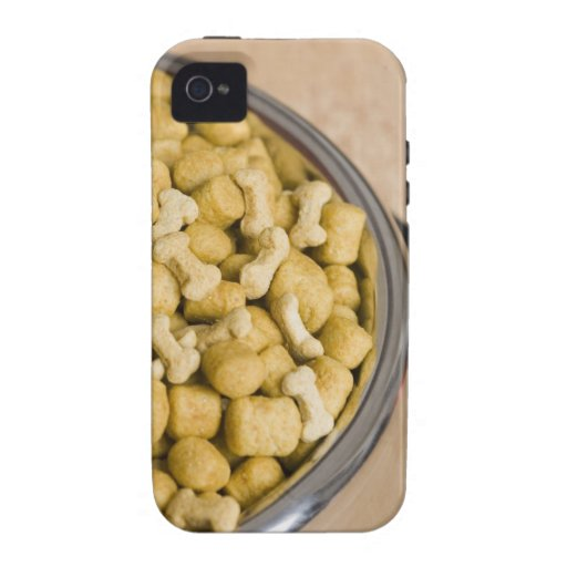 Close-up of dog food in a dog bowl Case-Mate iPhone 4 covers