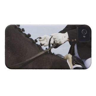 close-up of dressage horse with rider iPhone 4 cover