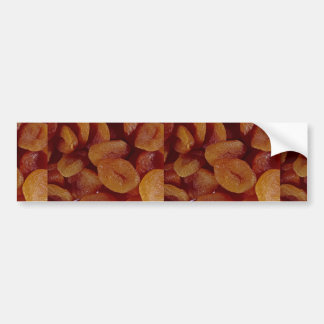 Close-up of dried apricots texture car bumper sticker