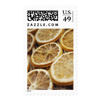 Close-up of dried slices of lemon stamps