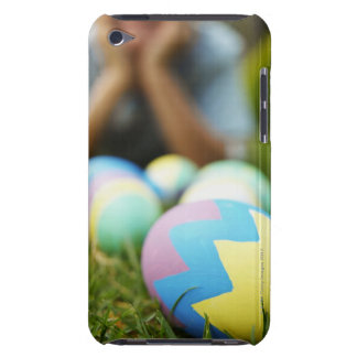 Close-up of Easter eggs with boy (7-8) in the iPod Case-Mate Case