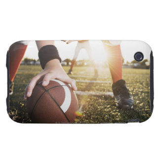 Close up of football center preparing to snap tough iPhone 3 cases