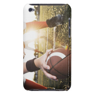 Close up of football center preparing to snap iPod touch cases