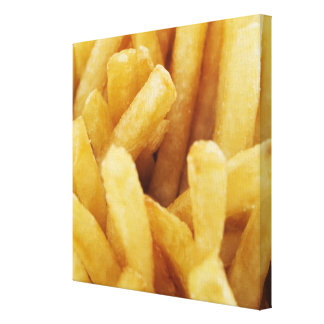 Close-up of French fries Canvas Print